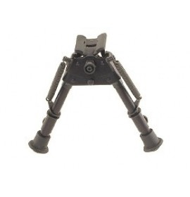 "HARRIS ENGINEERING bipod, 6""-9"" high, model SBRM swivel base with leg notches"