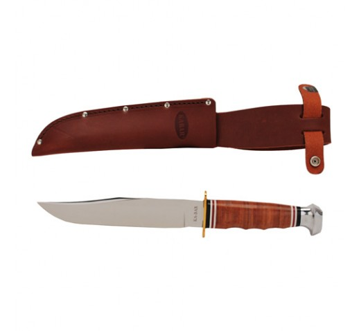 KA-BAR Bowie Stacked Leather Handle