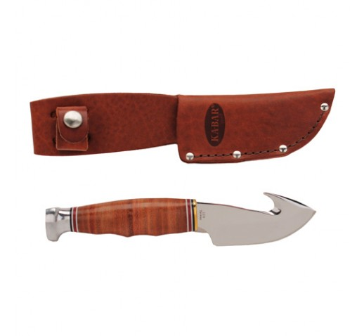 KA-BAR Game Hook Stacked Leather Handle