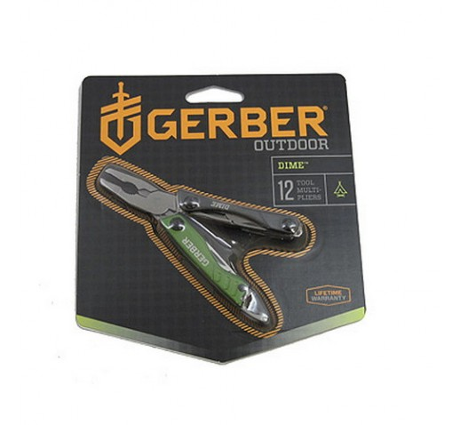 GERBER BLADES Dime Micro Tool, Green, Blister
