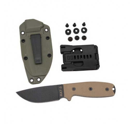 ONTARIO KNIFE COMPANY RAT-3 1095 Green Sheath