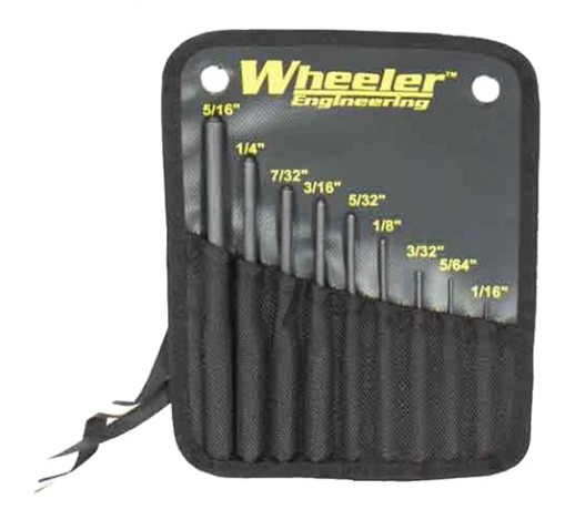WHEELER Roll Pin Punch Set
