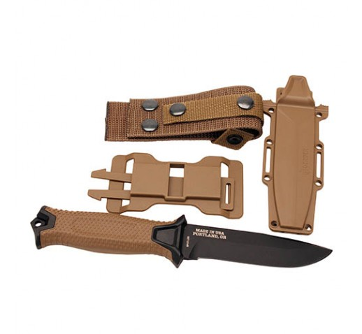 GERBER BLADES StrongArm Fixed Blade Knife, Coyote, Box