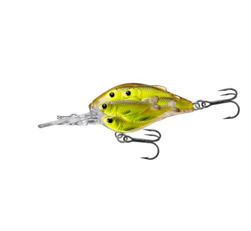 Yearling bb crankbait chartreuse blk 6 for Chartreuse fishing lure