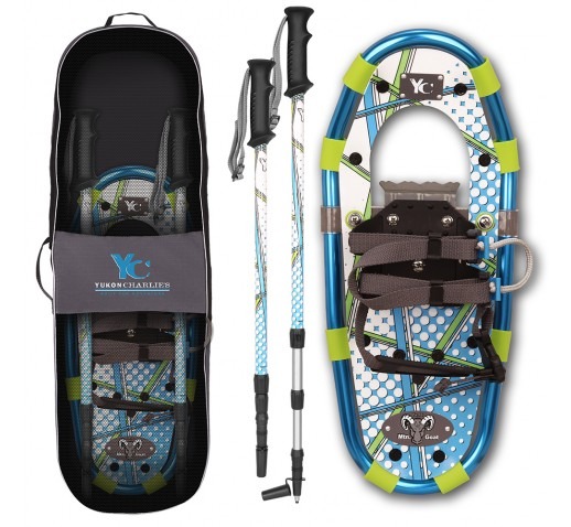 "Yukon Charlie's Junior Aluminum Snowshoe Kit - 7"" x 16"" - Blue"